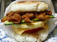 賢慧的愛妻早餐-照燒豬肉米漢堡
