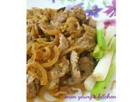 日式生薑煎豬肉 簡易。家常便當菜。晚餐