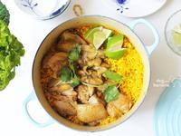 薑黃雞肉炊飯