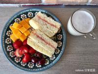 (麥典麵包專用粉)草莓起司菠蘿三明治