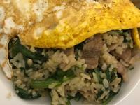 沙茶羊肉炒飯佐煎蛋