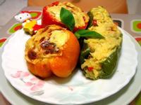 芝司樂~焗烤彩椒鑲蛤蜊雙菇燉飯