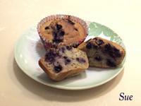 無油無糖只要拌勻的QQ藍莓燕麥瑪芬