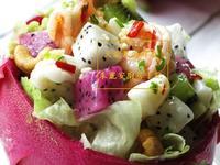 [火龍果海鮮盅] 簡易涼拌菜