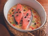 鮭魚鹹布丁