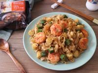 玉米筍鮮蝦BBQ炒麵