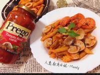 番茄羅勒大蒜海鮮義大利麵【Prego】