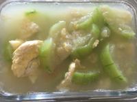 絲瓜炒蛋 迅速完成 史雲生清雞湯