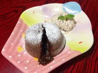 橙香熔岩巧克力蛋糕