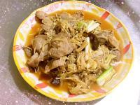 瓜仔金針菇炒肉片