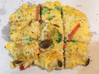 【寶寶食譜】蔬菜菇菇米飯煎