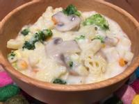 【寶寶食譜】玉米濃湯動物義麵