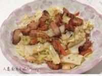 客家鹹豬肉炒高麗菜