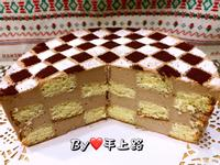 棋格造型生乳酪蛋糕(6吋)