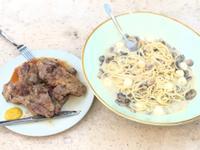 羊排蘑菇意粉Mushroom pasta