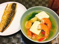 海鮮青菜豆腐湯