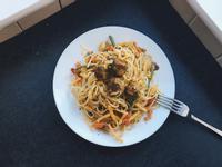 蔬菜丸子義大利麵
