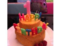 無糖 南瓜生日蛋糕 (嬰兒食譜)