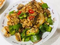 青椒素羊肉炒飯