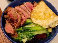 日式拉麵佐沙朗牛排