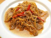 薑絲炒牛肉。10分鐘簡易料理