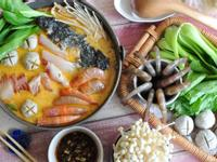 沙茶豆漿鮭魚頭火鍋