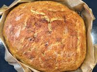 迷迭蒜香佛卡夏~大孔洞有彈性的免揉麵包