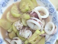 櫛瓜炒小卷