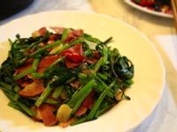 培根鹹燻空心菜|新鮮菜蔬與燻豬肉的好味道
