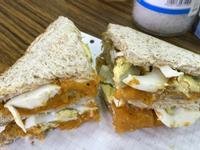 南瓜蛋海鹽肉桂三明治