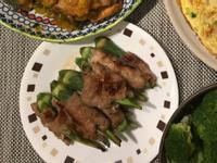 [一人開飯]秋葵肉捲