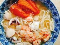 番茄蝦湯海鮮麵