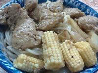 奶油洋蔥黑胡椒豬排蓋麵