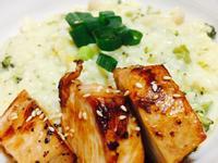 奶油起司燉飯(電鍋)&香煎雞胸肉