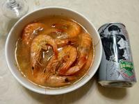 椰子蒸蝦-電鍋料理「半天水純天然椰子水」