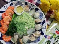 蒜香鮮蝦麵線湯