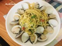 清炒米酒蛤蜊義大利麵