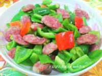 ㄚ曼達的廚房~康寶鮮味炒手鰹魚口味~青椒炒香腸