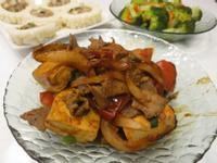 燒蕃茄豆腐炒牛肉