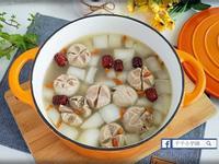 蒜頭香菇摃丸雞湯