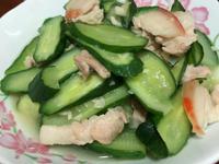 小黃瓜炒豬肉