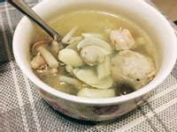 蒜頭蛤蜊雞湯