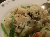 蘑菇鮭魚燉飯