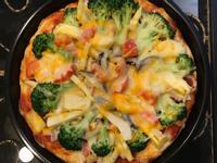 蔬食披薩(晚上做早餐熱熱吃)
