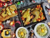 人妻料理~聖誕節烤雞腿