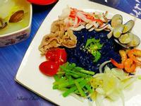 夢幻藍花泰式涼拌海鮮粉絲