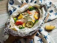 地中海式紙包蔬菜烤魚