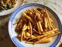 簡易下飯菜-劍筍炒肉絲