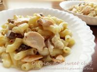 Olivia♥鮭魚菇菇白醬義大利麵+好菇道.菇idea!+