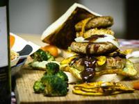 扭曲漢堡-豬絞肉漢堡排
